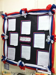 Bulletin Board Idea...Using tissue paper for borders.  Step by step instructions…