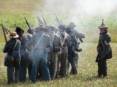 Gettysburg re-enactment at Gettysburg National Park in Gettysburg, PA