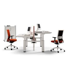 The Actiu Mobility Height Adjustable desk allows you to be active at your desk. http://www.apresfurniture.co.uk/mobility-height-adjustable-desk
