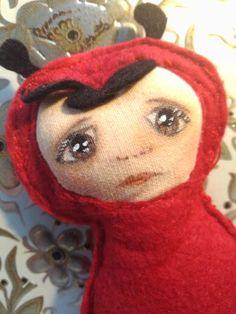 Ladybird handpainted doll