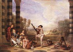 Antoine Watteau (1684-1721), Les charmes de la vie, 1718, huile sur toile, Londres, The Wallace Collection