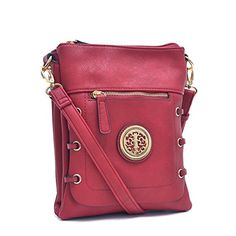 MMK Collection Fashion Crossbody Bag~Messenger Purse for Women~Designer Fashion handbag (FM-8875-RD) * See this great product.