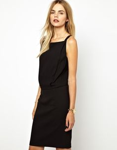 Image 1 ofBA&SH Low Back Pinafore Dress