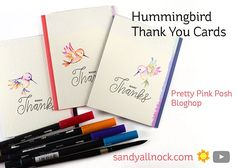 Hummingbird – Set of Thank You Cards I'd like to start by wishing Paulina a happy FOURTH birthday! Yes, it's her 4th year as Pretty Pink Posh, and I'm very happy for her &#8…