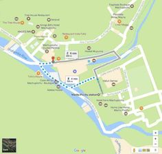 Map of Aguas Calientes for seeing Machu Picchu without hiking