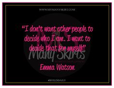 Many Skirts Quote of the Day!