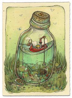 Wind In A Bottle, by Nicole Gustafsson
