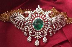 Jewellery Designs: Diamond Bajuband ,so beautiful, that it is glued to my arm. Emerald Jewelry, Diamond Jewelry, Gold Jewellery, Diamond Bracelets, Indian Wedding Jewelry, Bridal Jewelry, Indian Bridal, Diamond Necklace Set, Diamond Choker