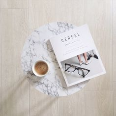 Cereal Magazine, coffee & marble table flatlay // thatscandinavianfeeling.com