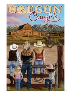 Oregon - Oregon Cowgirls Posters by Lantern Press at AllPosters.com