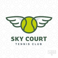 Sky Court Tennis Club – Exclusive Customizable Logo For Sale by paint.box!