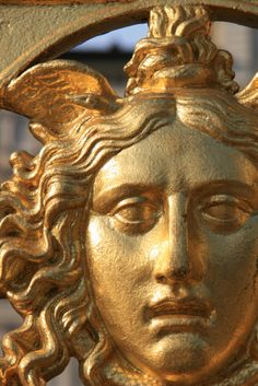 This is an amazing gilt-bronze Gorgon - totally neoclassical