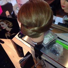 Hair up plait twist