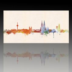 "Amazon.de: Druck auf leinwand ""Banksy"" Graffiti - Bild ""Hamburg Skyline ! Bild fertig auf Keilrahmen Banksy Graffiti, Skyline, Projects, Painting, Art, Graffiti Pictures, Print To Canvas, Canvas Frame, Watercolor"