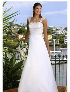 A-Line/Princess Square Chapel Train  wedding dress (WS0068...Maybe a wedding dress for Angie?