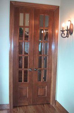 narrow french doors   Crested Butte Door Styles, raised panel wood doors