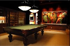 Our clients wanted a room in their newly built home dedicated for playing pool, drinking cognac & smoking cigars. Description from houzz.com. I searched for this on bing.com/images