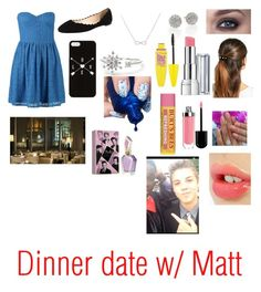 """Dinner date w/ Matt"" by nina-chamiye ❤ liked on Polyvore featuring New Look, Fabio Rusconi, L. Erickson, Adina Reyter, Kate Spade, Maybelline, Charlotte Tilbury and Revlon"