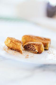 veganer French Toast: Röllchen mit Schokocreme http://whoismocca.com/lifestyle/veganer-french-toast-roellchen-mit-schokocreme-foodblogger/