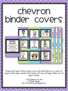 The titles for these binders include:    Math    Science    Social Studies    Reading    Writing    Assessment    Spelling/Word Wor...