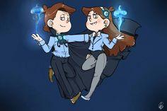 The+Pines+twins+by+Gidan-Kuroki.deviantart.com+on+@DeviantArt I like and dislike this at the same time.