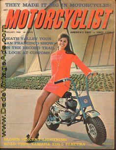 """1968 Bonanza Mini-Bike with the """"Pert Miss Bert"""""""