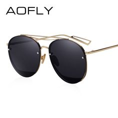 ae255aaabd AOFLY Sun glasses for Women Luxury Brand Designer Oval Sunglasses Fashion  Goggle Unique Style Mirrored Lenes Sunglasses AF2523