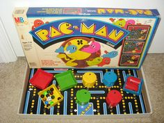 1980's Pac Man Board Game.