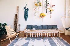 nautical themed macrame home plants style