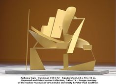 by Sir Anthony Caro, steel construction