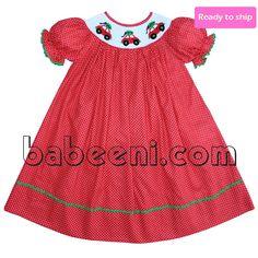 Smocked a lot girls bishop dress - Mas Tree Smocked Bishop Dress Bb370 Feature Cute Bishop Girl Dress