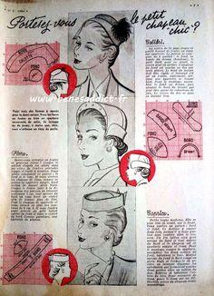 """Vintage """"Le Petit Echo de la Mode""""1953 plusieurs patrons gratuits!"""