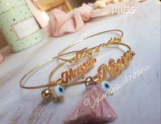 Bangles, Bracelets, Baby Crafts, Gold, Tin, Jewelry, Ideas, Meet, Tutorials