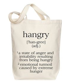 Another great find on #zulily! Hangry Tote #zulilyfinds