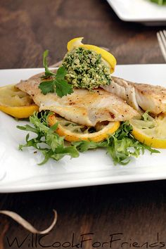 (Tilapia with arugula walnut pesto and lemon – recipe in post) For the past week or so I've managed to eat fish (or seafood of some form) almost every day. Sure, sometimes that means a can of tuna or some lox, but considering that wasn't really my goal I still think it's impressive.As far as …