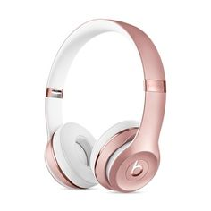Beats Solo3 Wireless On-Ear Headphones Rose Gold ❤ liked on Polyvore featuring accessories, tech accessories and rose gold headphones