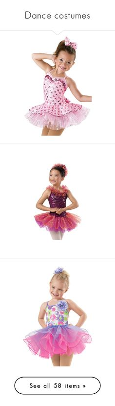 """""""Dance costumes"""" by princessdance12 ❤ liked on Polyvore featuring costumes, dance, dance costumes, pink costume, teddy bear halloween costume, pink cami, satin cami, sequin cami, dresses and sequin dresses"""
