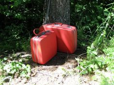 Vintage Royal Traveler Luggage Set in Red  by HeartSmileFarms, $50.00