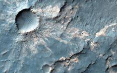 Impact Crater in Hesperia Planum