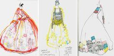 Molly Goddard fashion illustrations SS/15.