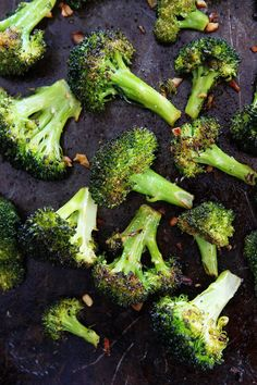 This Easy Roasted Broccoli Will Be Your New Favorite Vegetable, Even Kids Love This Easy Vegetable Side Dish. It Goes Great With Any Meal And Is So Easy To Make! #vegetarian Visit twopeasandtheirpod.com for more simple, fresh, and family friendly meals. #familyfreshmeals #familyfriendlymeals