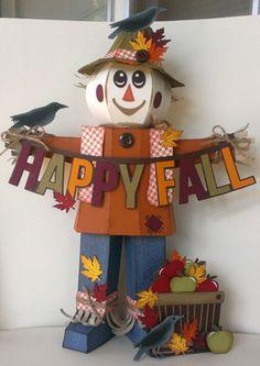 Another scarecrow using files Cardboard Houses, Pumpkin Centerpieces, Cricut Explore, Svg Cuts, Svg File, Cricut Design, Paper Crafting, Scrapbook Layouts, Cutting Files