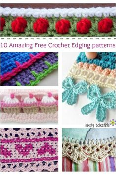 10 Amazing Free Crochet Edging patterns you will love! #CrochetEdging