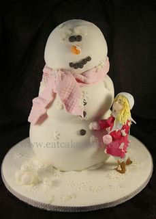 Nadia's snowman by ♥Dot Klerck....♥, via Flickr
