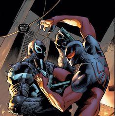 Agent Venom and Scarlet Spider
