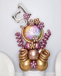 """🎈SO PRETTY BALLOONS🎈 on Instagram: """"""""51"""" Con un poco de elegancia y ternura. . Gracias @hazelarceda por confiar en @soprettyballoons 🎈🎈🎈 . . . #birthday #mom #diy #balloons…"""" Balloon Decorations, Balloons, Delivery, Brooch, Jewelry, Instagram, Elegance Fashion, Thanks, Globes"""