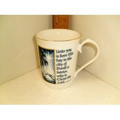 """Crystal Cathedral""""Hour of Power"""" Christmas Mugs Assorted in Bone China OR Ceramic Crystal Cathedral, Ceramic Design, Christmas Mugs, Tis The Season, Bone China, Christmas Decorations, Seasons, Ceramics, Dining"""