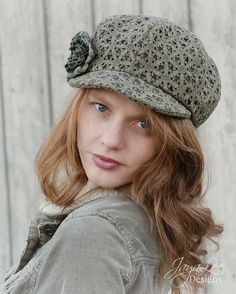 Green Lace Newsboy Hat Cap by GreenTrunkDesigns on Etsy