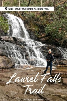 Want to see an 80 foot tall waterfall during your visit to the Great Smoky Mountains? Then add the easy, paved, mile Laurel Falls Trail to your trip! Gatlinburg Vacation, Tennessee Vacation, Vacation Trips, Vacation Spots, Gatlinburg Tennessee, East Tennessee, Vacation Ideas, Smoky Mountains Hiking, Great Smoky Mountains