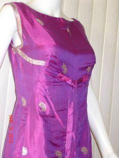 271c3e65e79596 Designer Silk Dress by Elizabeth Byrne Vintage in shades of wine